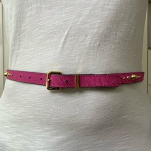 NWT Pink Juicy Couture Gold Embellished Belt SZ L